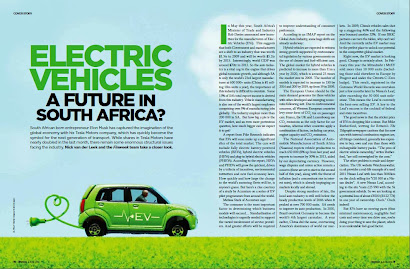 FINWEEK Cover Feature: Do EV's have a future in South Africa - by Nick van der Leek [June 2013]
