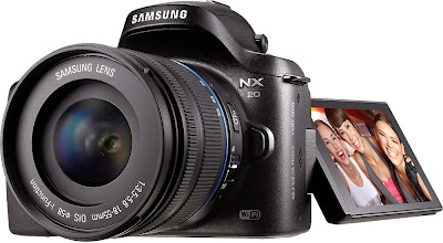 Samsung NX20, mirrorless camera, Wi-Fi camera, C-MOS sensor, photography, low light camera, Full HD video, art filters