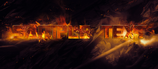 Nice Fire Text Effect Creation in Photoshop