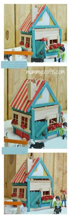 cara membuat rumah boneka dari stik es krim