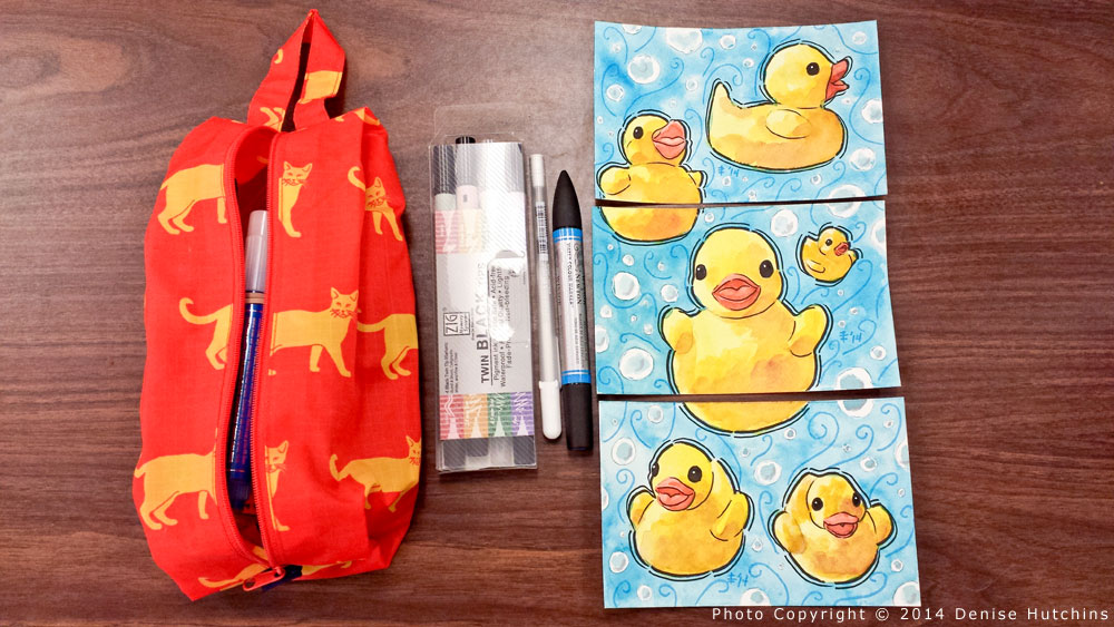 Rubber Ducky Painting, Detailing Complete
