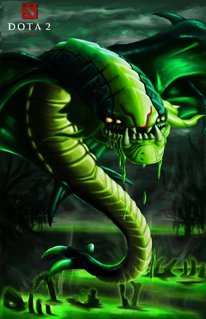 Dota 2 fan art viper by ahyou1991