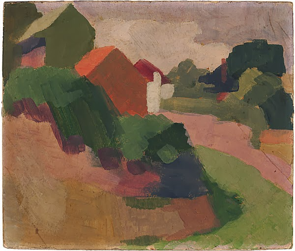 Hillside Houses, Berry Bay 1919 (Roland Wakelin)