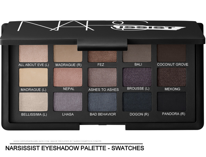 NARS Narsissist Eyeshadow Palette - Swatches