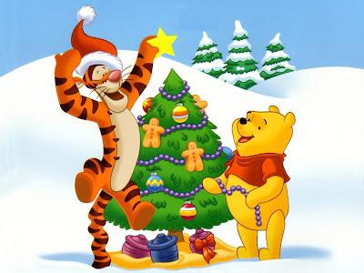 Winnie Pooh en Navidad personajes navideños