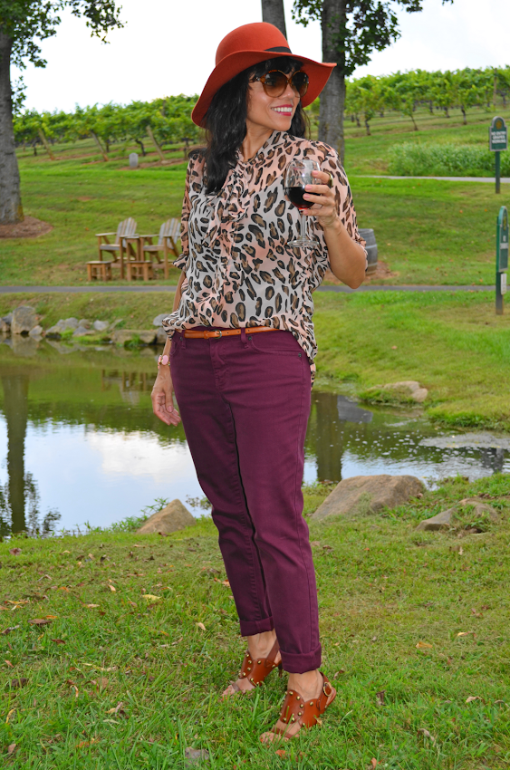 Burgundy Pants Outfit