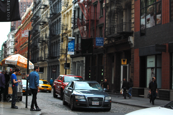 fashionable streets in New York CIty