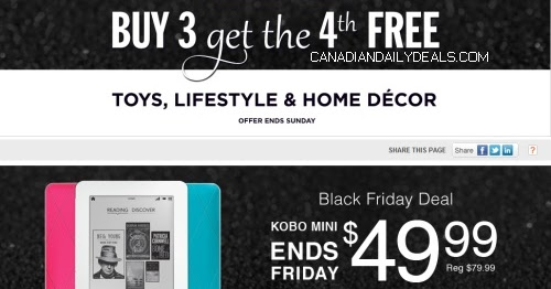 Canadian Daily Deals Chapters Indigo Black Friday Buy 3 Get 4th Free Toys Lifestyle Home