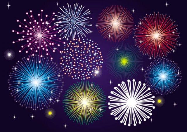 Vector splendid fireworks