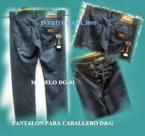 PANTALONES CABALLERO D&G