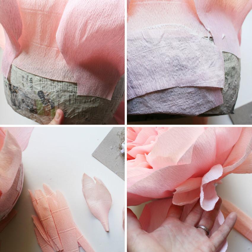 Как сделать пион из гофрированной бумаги