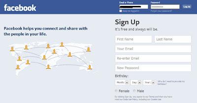 log on facebook