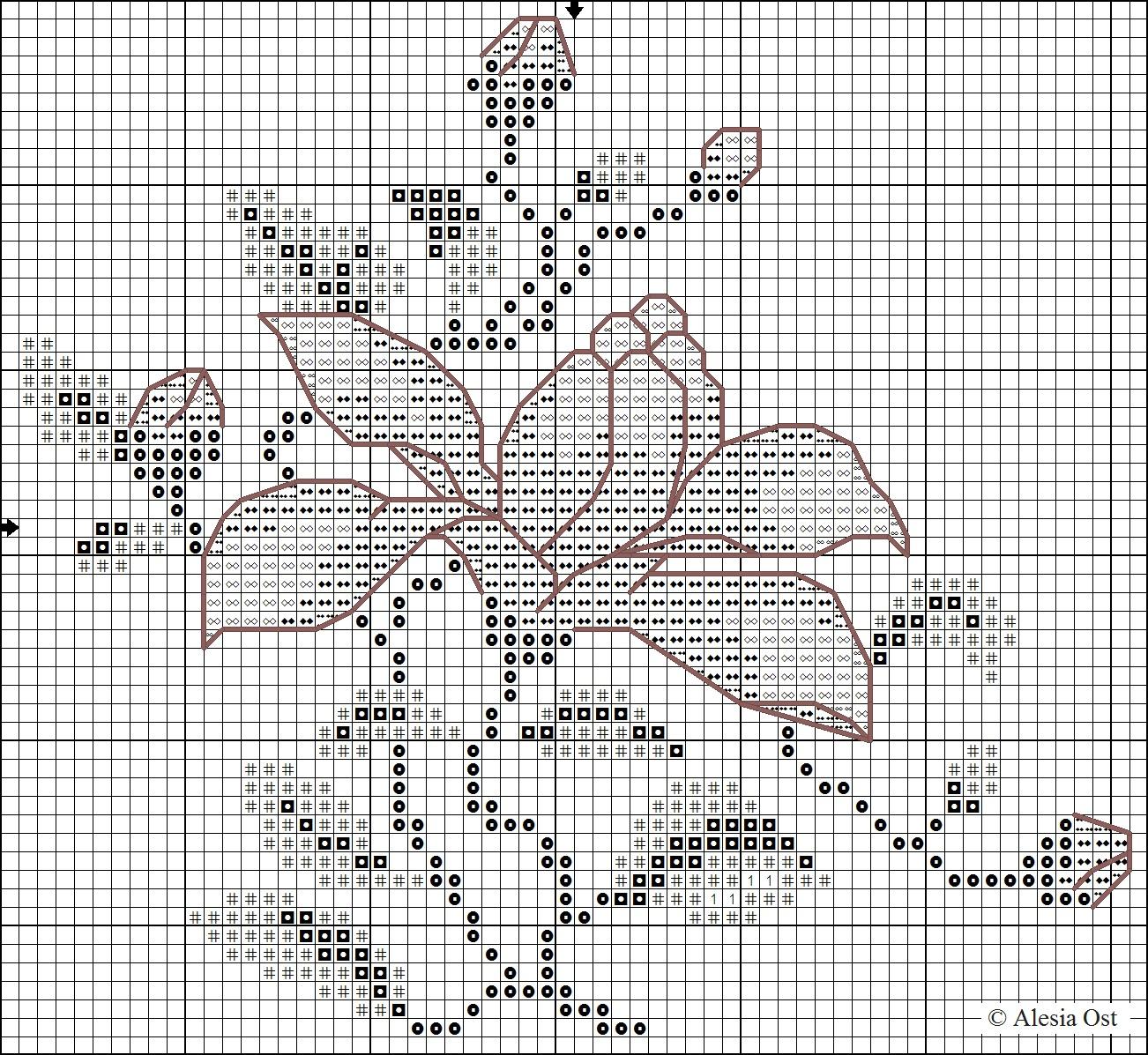 X Stitch Magic Japanese Style Magnolia