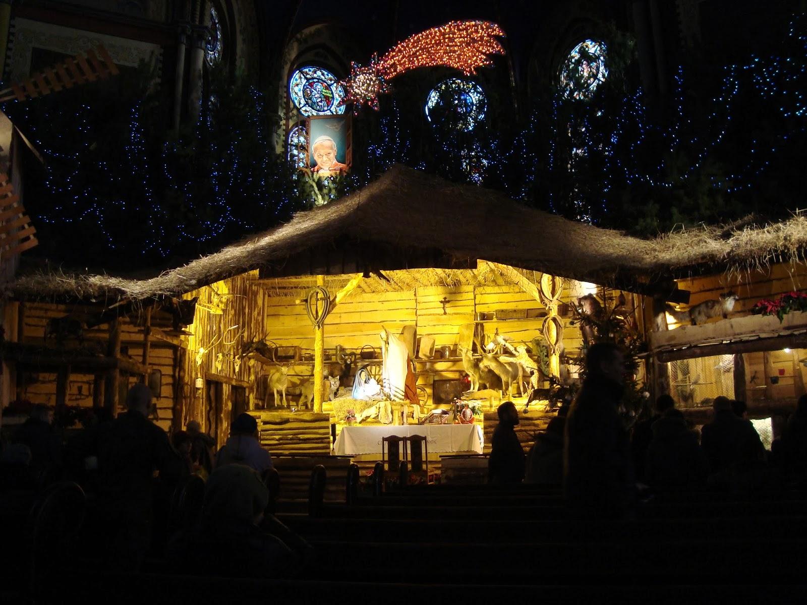 świąteczny Toruń, kościół garnizonowy, żywa szopka