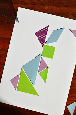 colourful tangram rabbit - little box of tricks