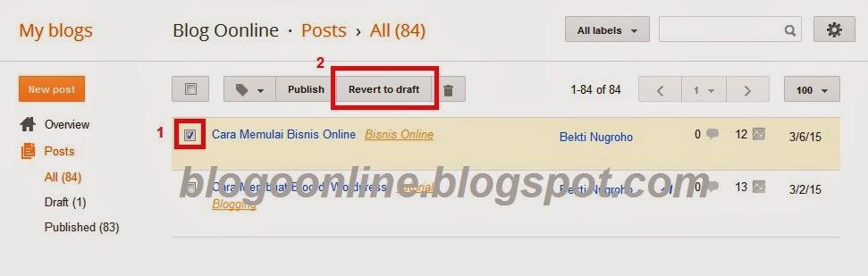 Cara Merubah Alamat/ Url Posting (Permalink) di Blogger