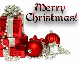 tarjeta de navidad con regalos