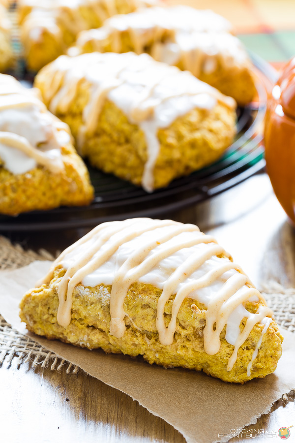 Pumpkin Scones | Cooking on the Front Burner