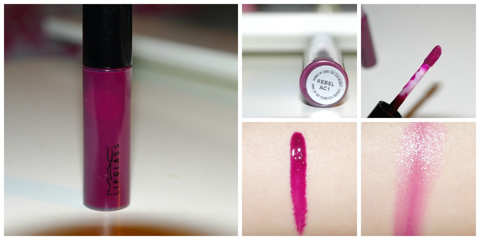 Rouge de Amour: MAC : Rebel Lipglass Review + Swatches