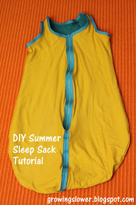 DIY Summer Sleep Sack for Baby Tutorial