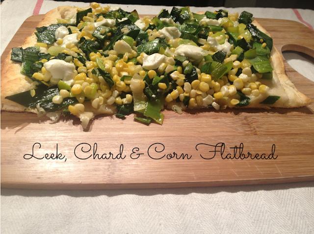 Leek, Chard And Corn Flatbread Recipe — Dishmaps