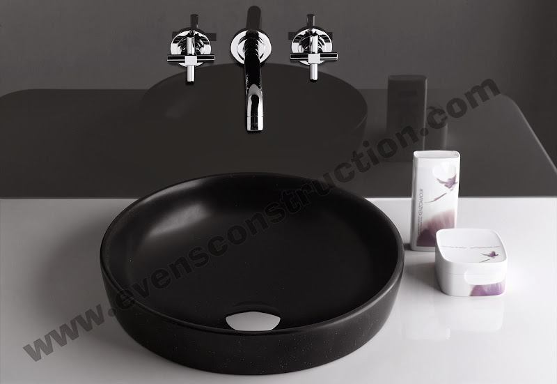 Black finished wash basin title=