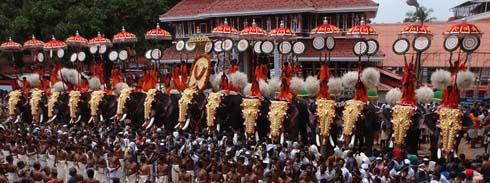 thrissur pooram festival 2015