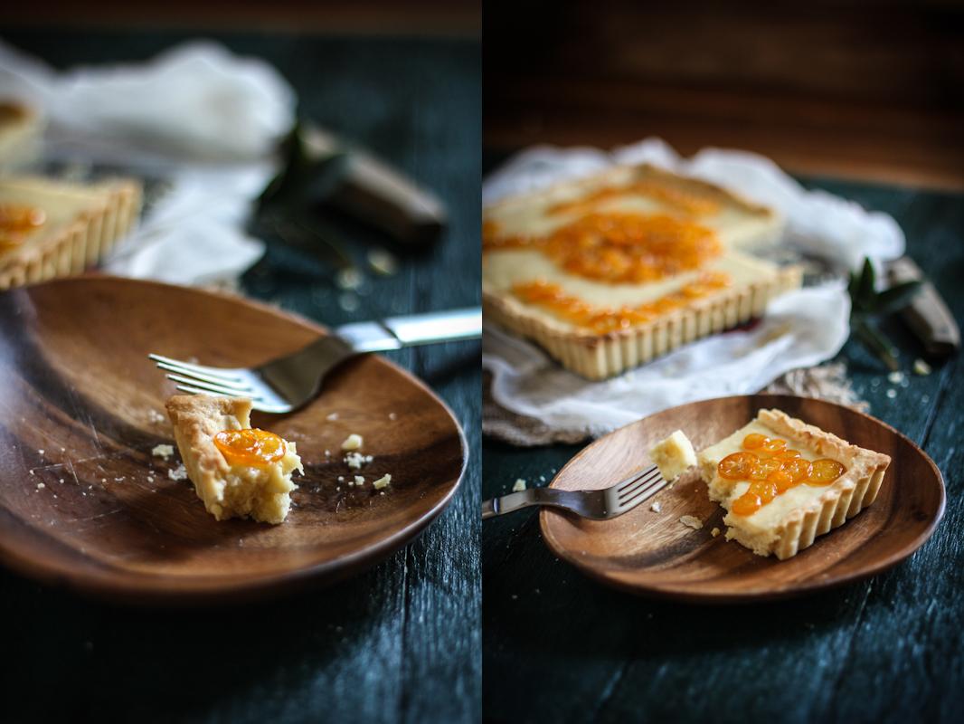 Candied Kumquat & Cream Cheese Tart