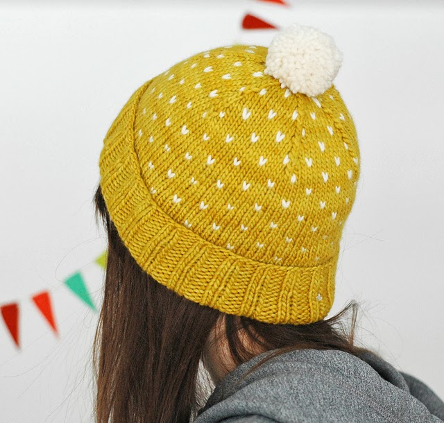 A Most Bespeckled Hat by Alex Tinsley - 20% off Malabrigo Patterns for Malabrigo March!