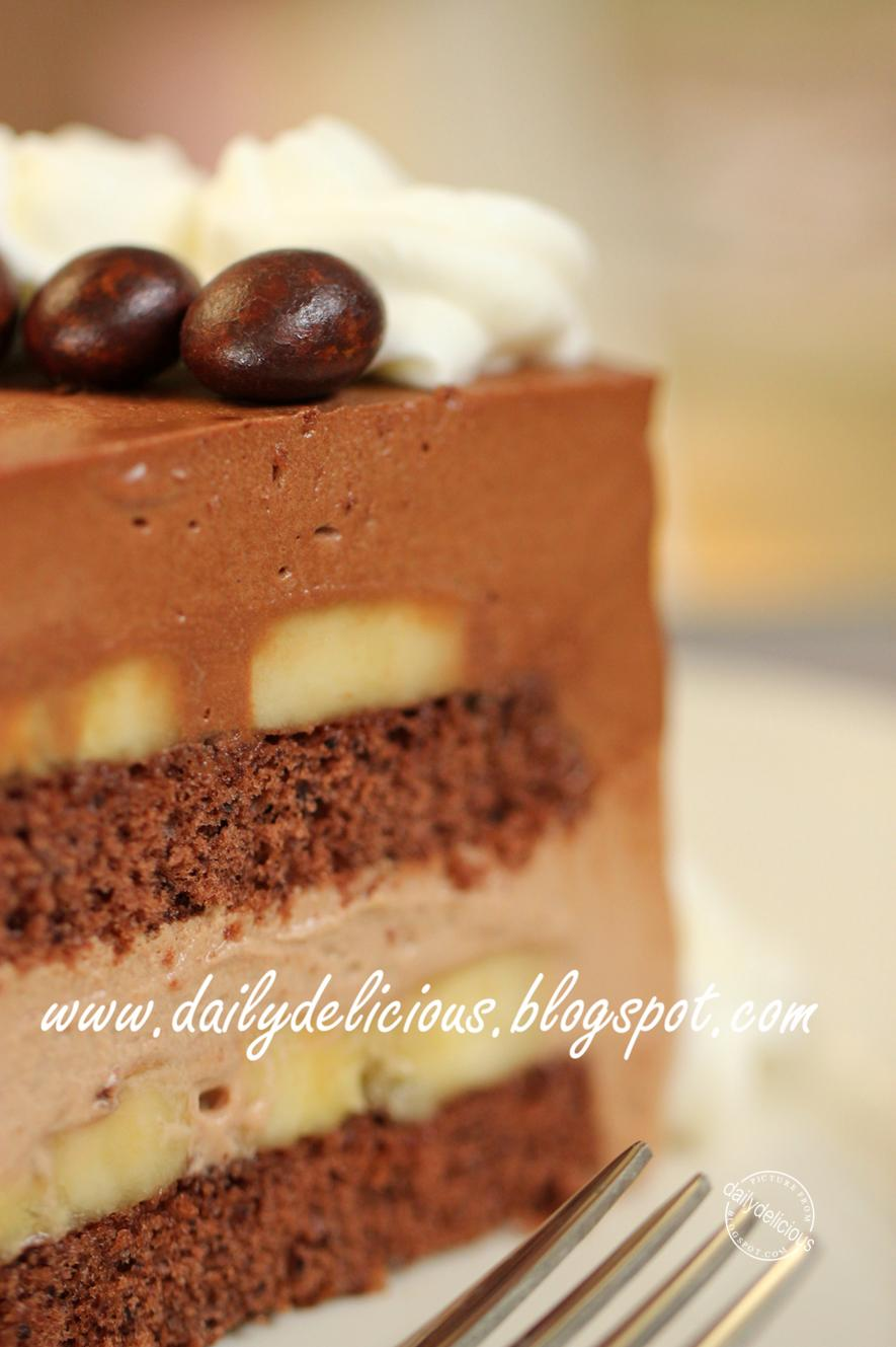 Dailydelicious chocolate banana mousse cake banana choco cake chocolate banana mousse cake banana choco cake for people who love chocolate forumfinder Gallery