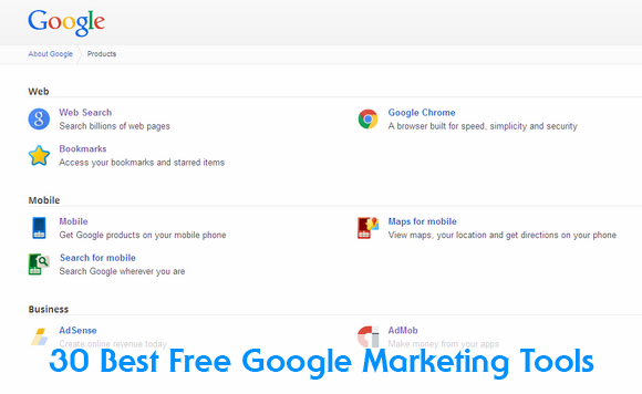 30 Best Free Google Products & Tools to Market Your Business Online