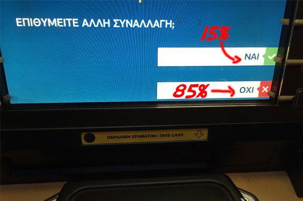 Υπερήφανο «ΟΧΙ» του λαού στην ερώτηση των ATM