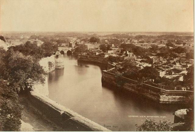 General View of Bharatpore, Rajasthan - c1865