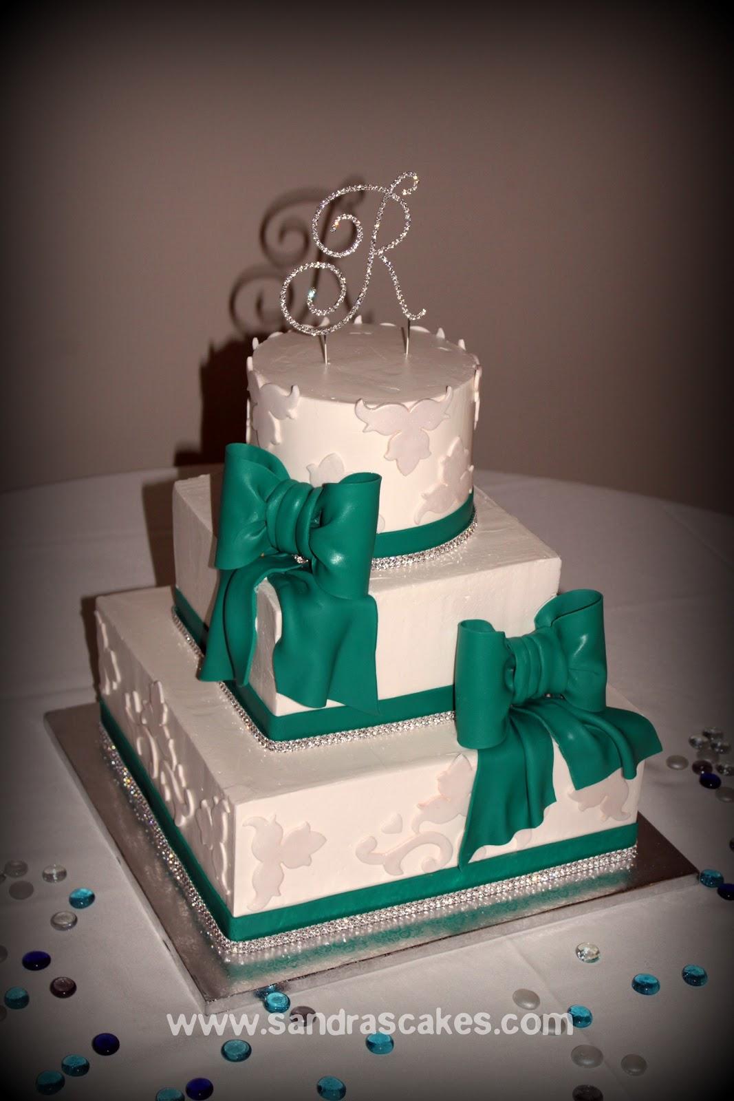 Buttercream Wedding Cake with Bling