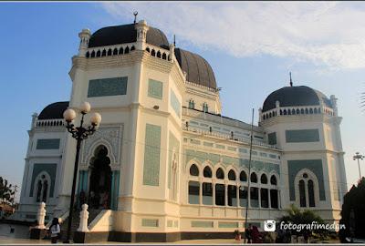 masjid raya sumatera utara fotografi medan
