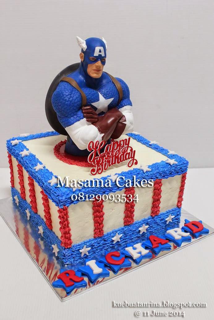 Masama Cakes Captain America Birthday Cake For Richard