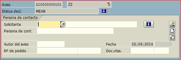 numeracion anticipada en aviso SAP