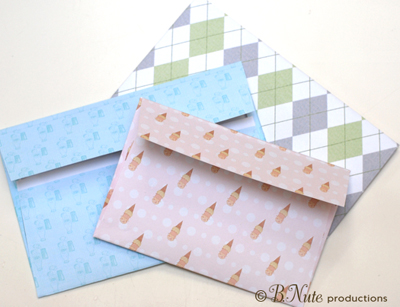 bnute productions: Scrapbook Paper Ideas: Printed Envelope ...