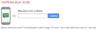 Masukkan Nomor anda untuk membuat akun gmail
