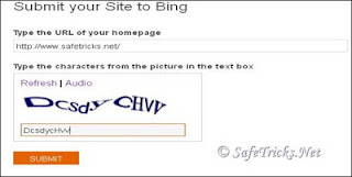 Bing site submit