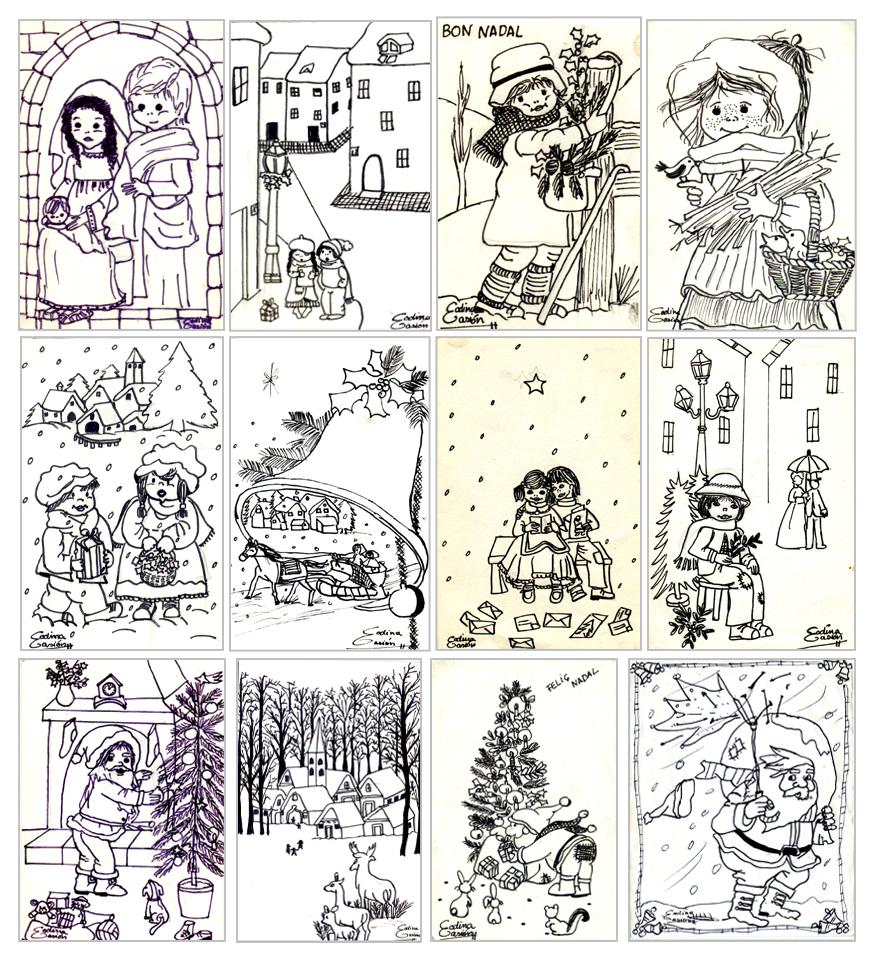 Cucatraca aquellas postales de navidad actualizaci n - Decorar postales de navidad ...