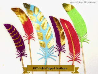 DIY Gold-Tipped Feathers