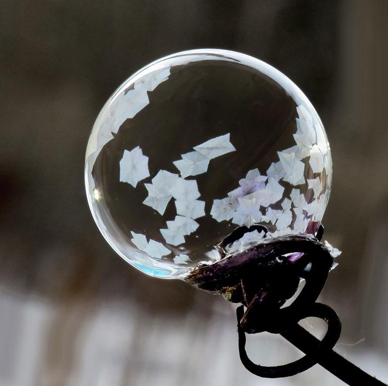 Fotos Macro registram a beleza das bolha de sabão congeladas por Cheryl Johnson
