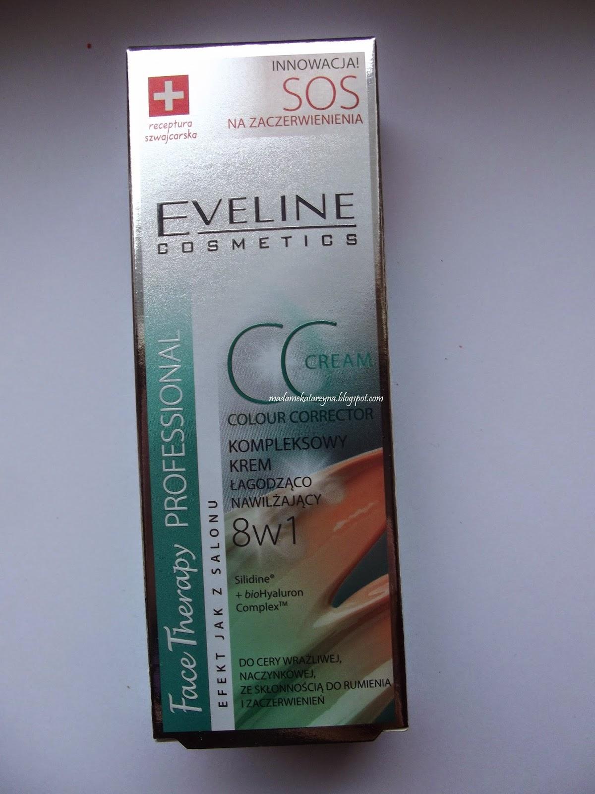 Łagodząco-nawilżający krem CC eveline 8w1
