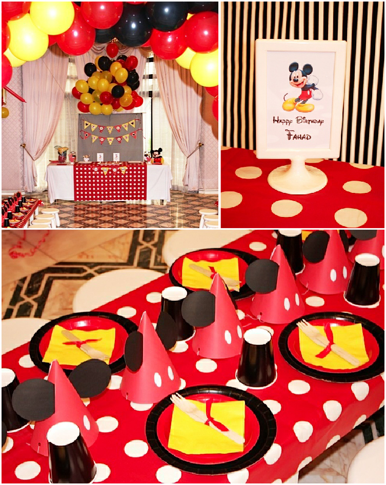 A retro mickey inspired birthday party party ideas for Decoration goods