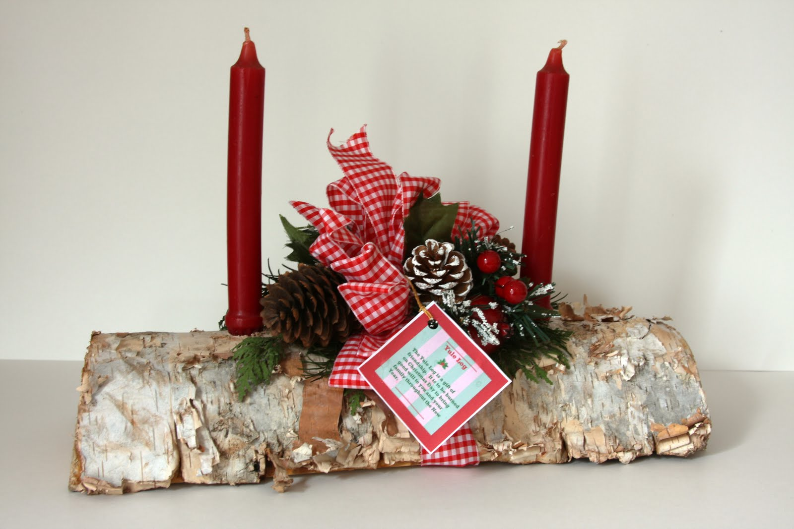 Canadian Yule log pictures images