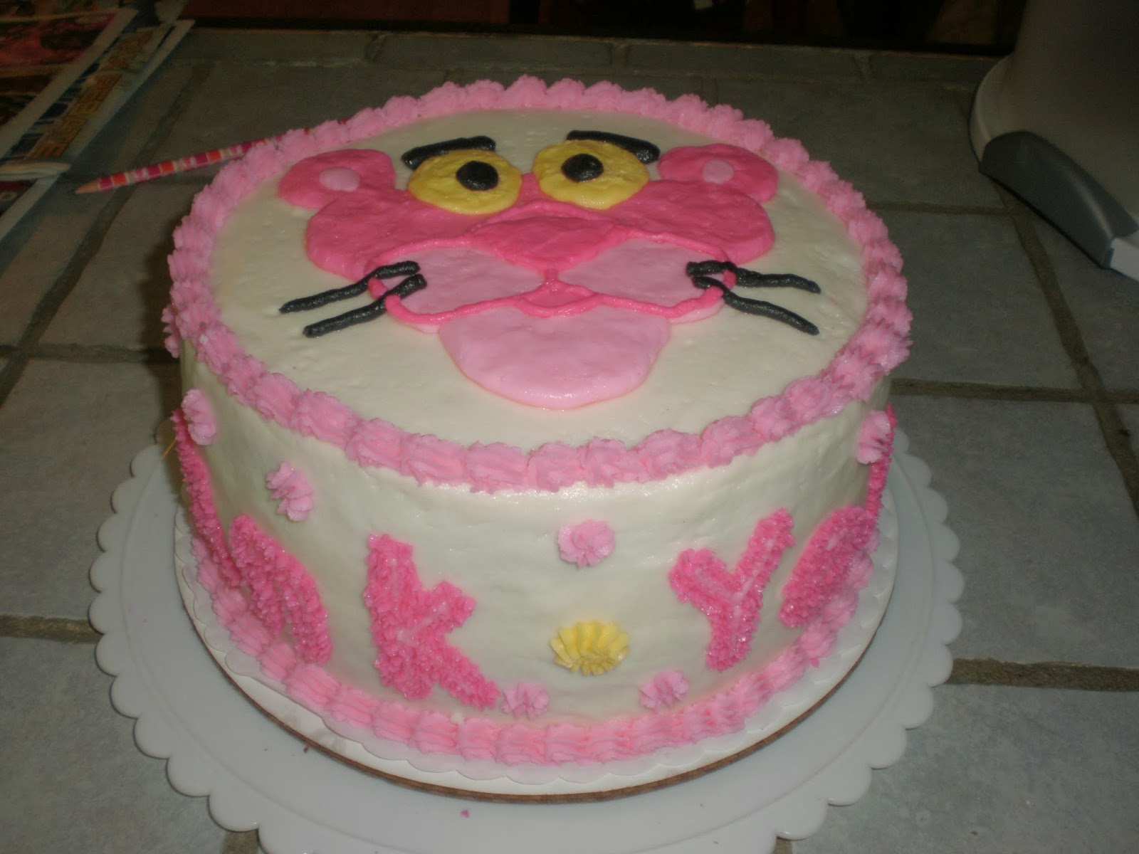 Cakes by Mindy: Pink Panther Cake 9\
