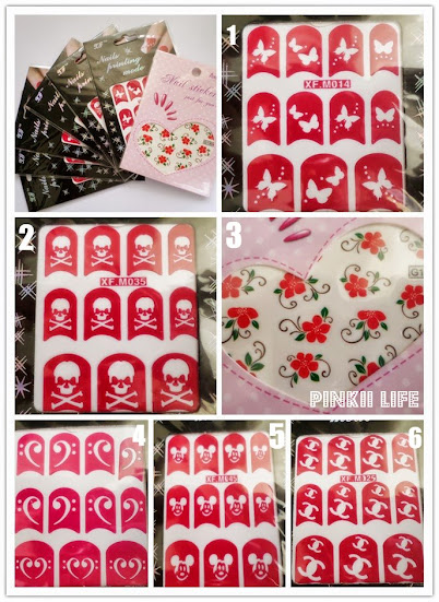 Nail Art Sticker Stencils