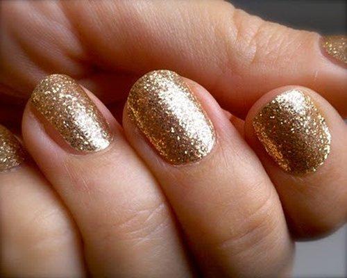 gold nail design - pccala