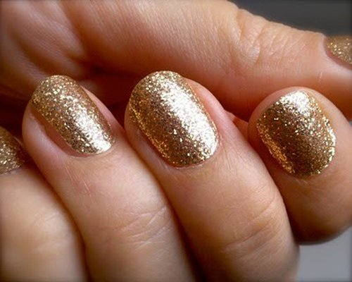 The Awesome Easy pretty nail designs gold giltter Photo